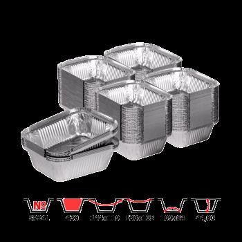Алюминиевые контейнерые SP24L 430 мл 100 шт/уп прямоугольны