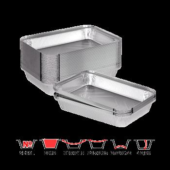 Алюминиевые контейнеры SP86L 2100 мл 50 шт/уп прямоугольные