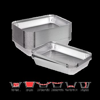 Алюминиевые контейнеры SP98L 3100 мл 50 шт/уп прямоугольные