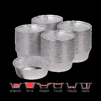 Алюминиевые контейнеры SPT546L 1440 мл 100 шт/уп круглые