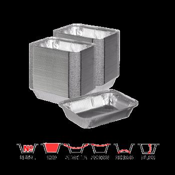 Алюминиевые контейнеры SP62L 900 мл 100 шт/уп прямоугольные