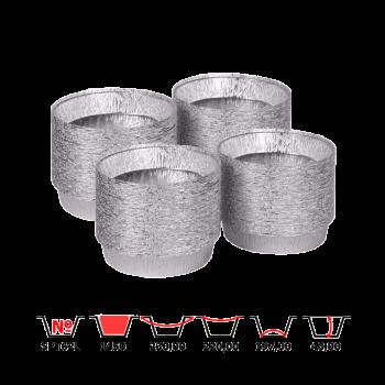 Алюминиевые контейнеры SPT62L 1450 мл 100 шт/уп круглые