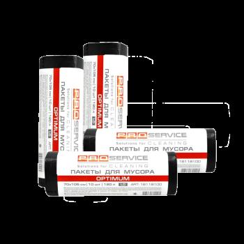 Пакеты для мусора LD120л/10шт Черные 70*105 см Optimum PRO Service