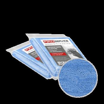 Салфетки из микрофибры универсальные синие 38х38 3 шт PRO Service Professional