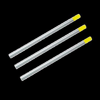 Алюминиевая рукоятка желтая под держатели для мопов 23,5*140 см PRO Service Standart