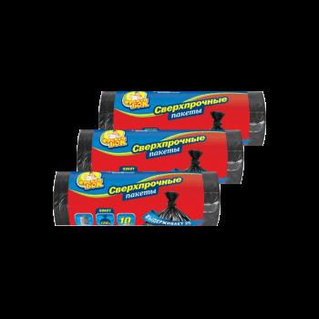 Пакеты для мусора LD 120л/10шт черные 70*110 см 30 шт/ящ Фрекен Бок
