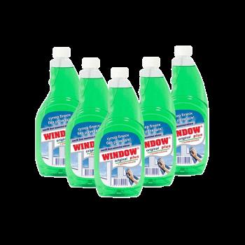 Средство для мытья окон Window Plus зеленое запаска 0,5 л