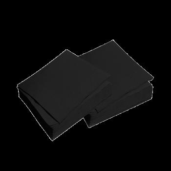 Салфетки бумажные черные Silken 33*33 двухслойные 50 шт/уп