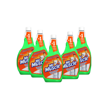 Мистер Мускул для мытья стекол с нашатырным спиртом 500 мл зеленое запаска