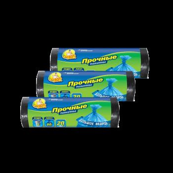 Пакеты для мусора HD 60л/20шт синие 60*80 см 50 шт/ящ Фрекен Бок