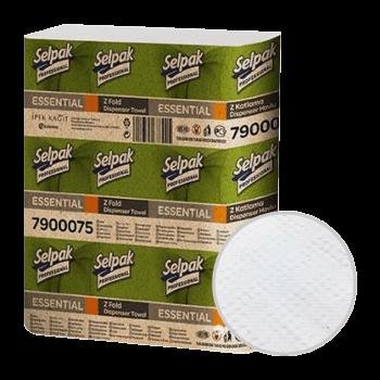 Полотенца листовые рециклинг ZZ-сложение 1-слойные 250 шт/уп Selpak Professional Essential