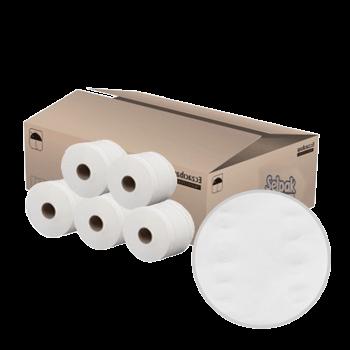 Туалетная бумага джамбо в рулонах 2х-слойная белая 150 м 12 шт/уп Selpak Professional Extra