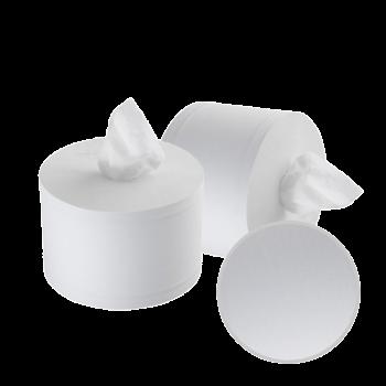 Туалетная бумага джамбо в рулонах с центральной вытяжкой 2х-слойная белая 120 м 6 шт/уп Selpak Professional Premium