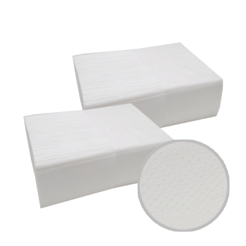 Полотенца бумажные целлюлозные белые листовые ZZ-сложение двухслойные 200 шт в упаковке PRO Service Comfort
