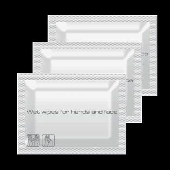 Влажные салфетки в саше для рук и лица 140*130 мм 600 шт/уп в индивидуальной упаковке PRO Service