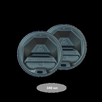 Pro Service  Крышка для бумажных стакановRipple 340 мл, черная 50шт/уп