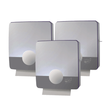Держатель для бумажных полотенец Z-сложения серый пластиковый Selpak Professional Touch
