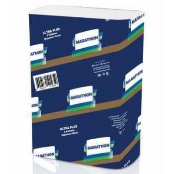 Marathon Ultra Полотенца бумажные целлюлозные ZZ-сложения 2-слойные 200шт