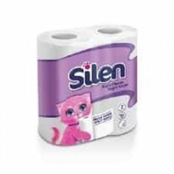 Туалетная бумага целлюлозная 2-слойная 20м 4шт Silen