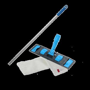 Швабра плоская для влажной уборки пола флаундер с насадкой из микрофибры 40см