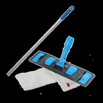 Швабра плоская для влажной уборки пола флаундер с насадкой из микрофибры 50см