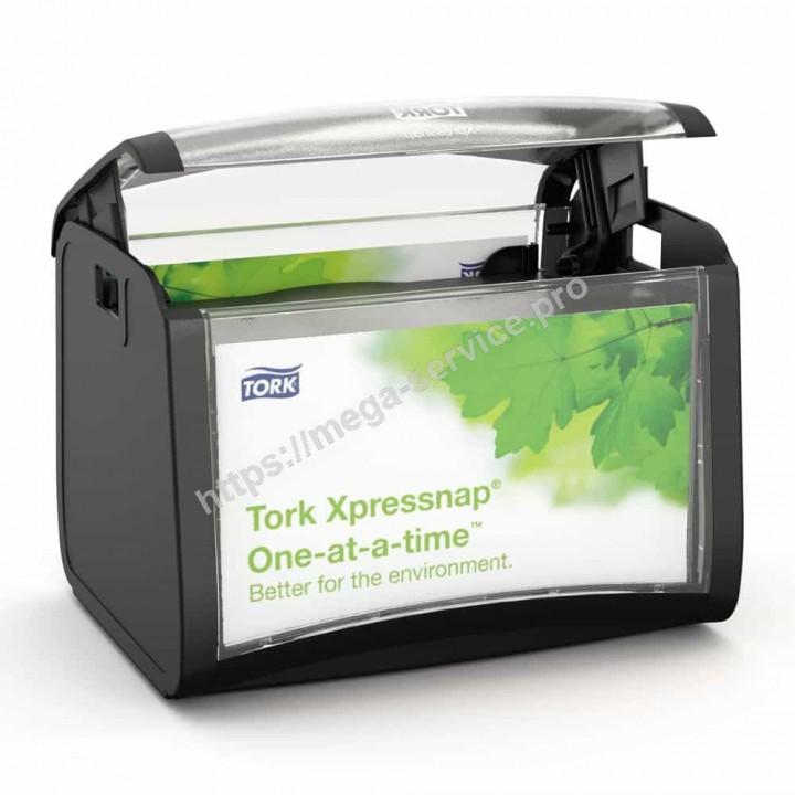 Торк настольный диспенсер для бумажных салфеток черный